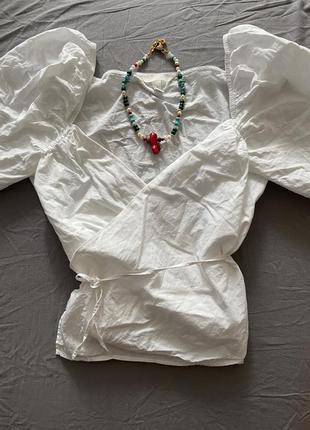 Блуза с фонариками на завязках