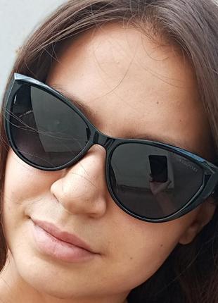 Стильные очки кошки очки лисички поляризация антиблик polarized swarovski6 фото