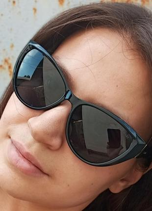 Стильные очки кошки очки лисички поляризация антиблик polarized swarovski7 фото