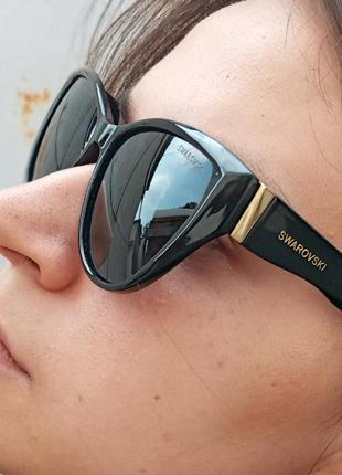 Стильные очки кошки очки лисички поляризация антиблик polarized swarovski8 фото