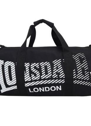 Спортивная сумка lonsdale barrel bag black/white