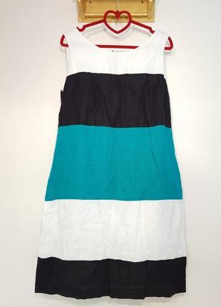 Изумительное платье marks&spenser натуральный лен3 фото