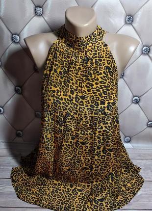 Шикарная блуза с леопардовым принтом / с бантом