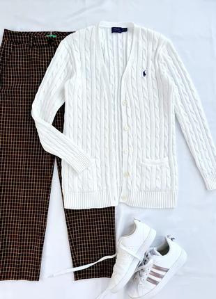 Бездоганний білий кардиган від ralph lauren