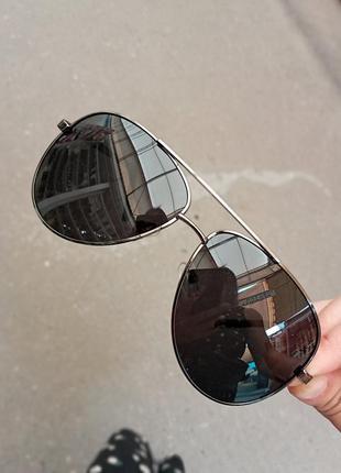 Стильные капли авиаторы очки на флексах поляризация антиблик