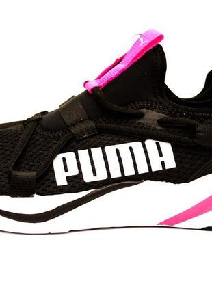 Жіночі кросівки puma чорні з рожевим