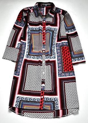 Boohoo отличное платье рубашка в геометрический принт. 3хл.18.46