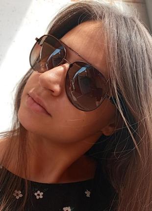 Стильные качественные очки авиаторы антиблик поляризация polarized bvlgari унисекс10 фото