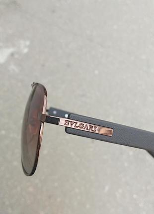 Стильные качественные очки авиаторы антиблик поляризация polarized bvlgari унисекс4 фото