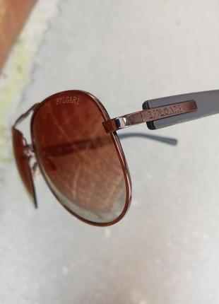 Стильные качественные очки авиаторы антиблик поляризация polarized bvlgari унисекс8 фото