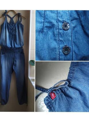 Легкий джинсовый комбинезон с штанами котон edc