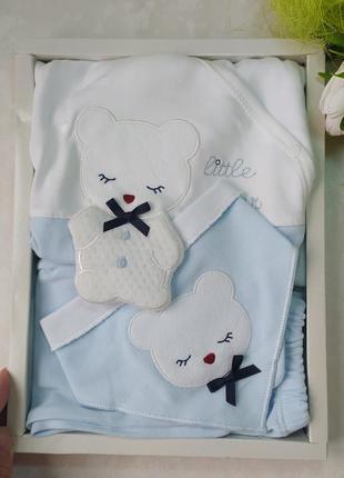 Подарунковий набір для новонародженого / комплект новонародженим/ костюм для хлопчика