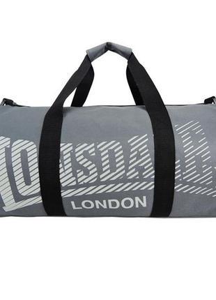 Спортивная сумка lonsdale barrel bag charcoal/grey