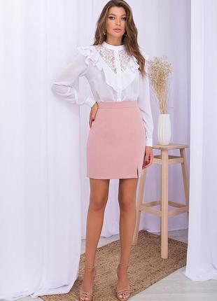 Красивая лиловая юбка