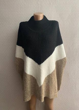 Мягекий свитер летучая мышь большого размера