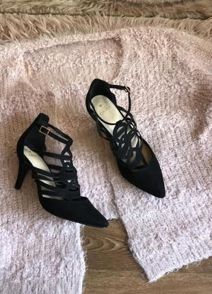 Замшевые туфли лодочки (39р)25см