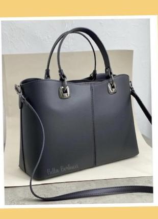 Сумка а4 деловая сумка чёрная итальянская сумка каркасная сумка шкіряна ділова чорна сумка