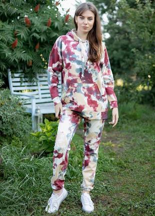 Спортивный костюм в стиле тай-дай. 5 расцветок
