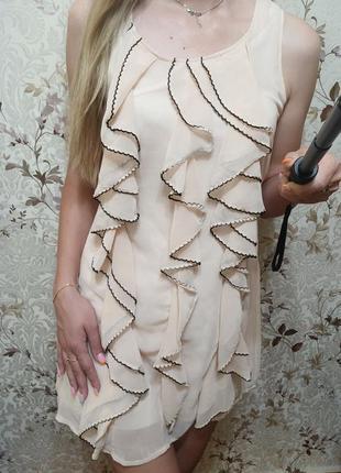 Шифоновое платье s-m
