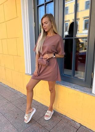 Трендовое платье на лето 2021🔥🔥🔥(+сумка)