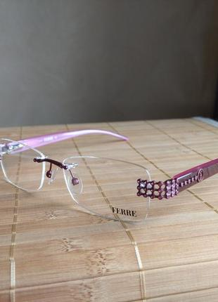 Распродажа! фирменная безободковая оправа под линзы,очки оригинал gf.ferre gf33902