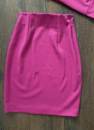 Трикотажный комплект юбка и топ7 фото