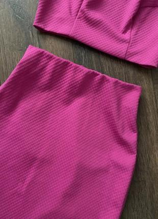 Трикотажный комплект юбка и топ5 фото