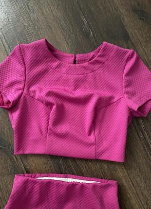 Трикотажный комплект юбка и топ6 фото