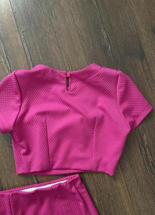 Трикотажный комплект юбка и топ8 фото