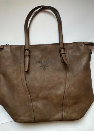 Prada milano сумка italy коричневий короткий а4