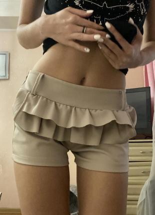 Классические шорты телесного цвета