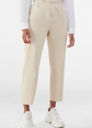 Супер стильные коттоновые брюки / джинсы bershka 100% хлопок