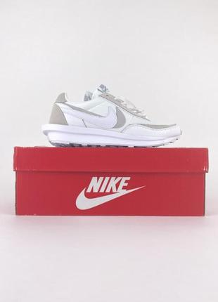 Nike sacai x vaporwaffle white кроссовки😎