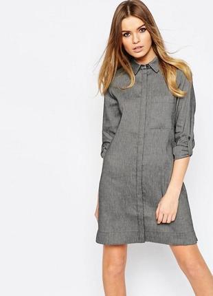 Платье-рубашка туника asos лен