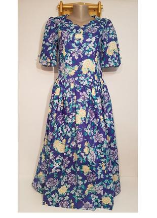 Изумительное дизайнерское винтажное платье laura ashley хлопок в стиле прованс
