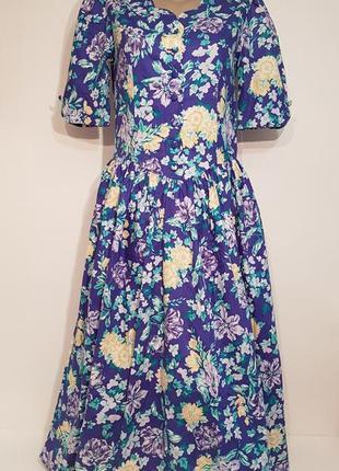 Изумительное дизайнерское винтажное платье laura ashley хлопок в стиле прованс2 фото