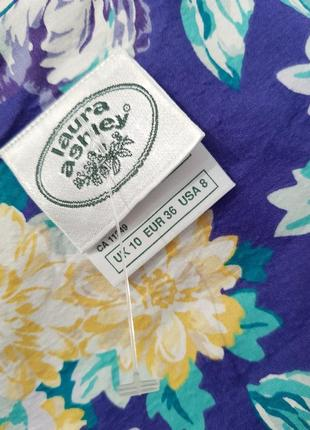 Изумительное дизайнерское винтажное платье laura ashley хлопок в стиле прованс3 фото