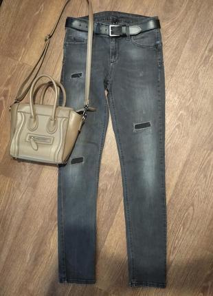 ❤️тягучие джинсы скинни оригинал liu jo