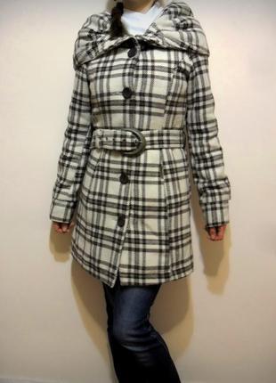 Фирменное пальто khujo.пальто в клеточку демисезонное, зимнее, осеннее