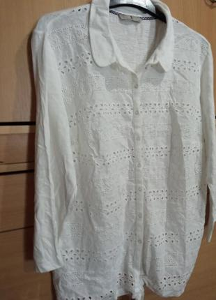 Блуза-накидка из трикотажа и кружевного полотна
