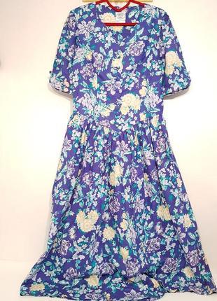 Изумительное дизайнерское винтажное платье laura ashley хлопок в стиле прованс5 фото