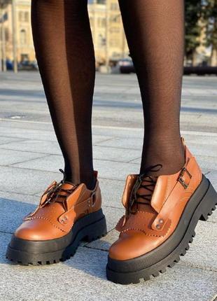 Туфли модель 155-2 коричневые
