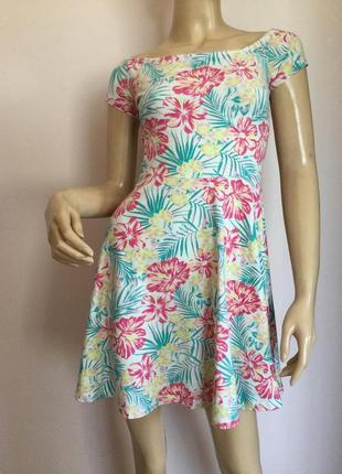 Хлопковое трикотажное платье/s- m/ brend new look