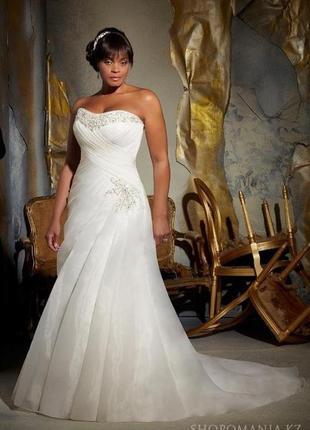 Свадебное платье 56 58 размер со шлейфом тренд 2021 новое