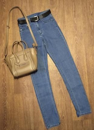 ❤️завышеные легкие джинсы скинни высокая посадка