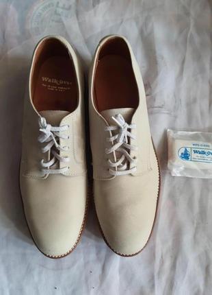 Элитные качественные натуральные туфли с присыпкой 44 р walk-over usa