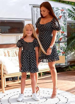 Платье горошек