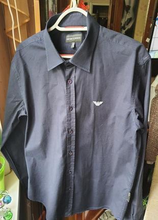 Emporio armani оригинал стречевая приталенная рубашка