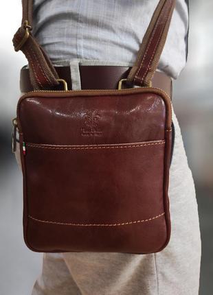 Мужская сумка италия vera pelle