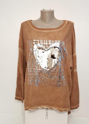 Ультрамодная блуза в стиле бохо your&self вискоза италия оверсайз2 фото